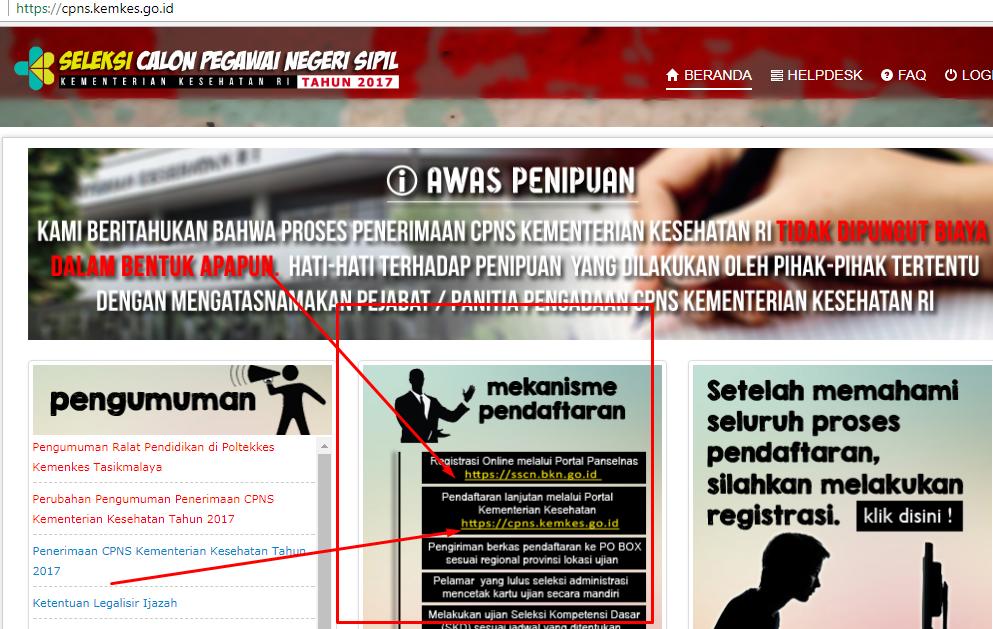 Pendaftaran Cpns Kemenkes Online Tenarkan Pendaftaran Cpns Kemenkes Online 2014 Panselnas Cpns
