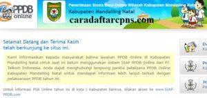 PPDB SMP Kabupaten Mandailing Natal