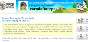 PPDB SMP Kabupaten Toba Samosir