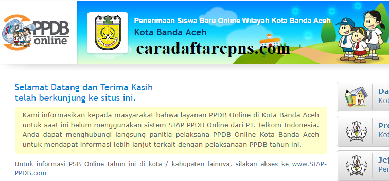Jadwal Pendaftaran Ppdb Sma 2020 2021 Kota Banda Aceh Soal Skd Skb