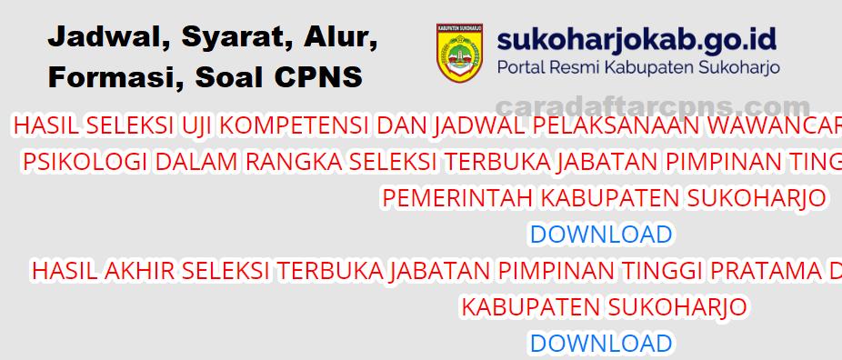 29+ Formasi cpns sukoharjo 2019 pdf info