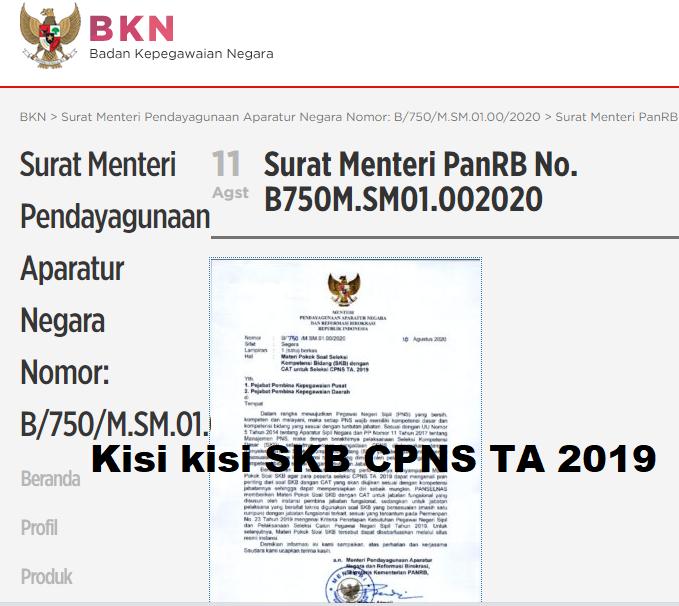 Download Kisi Kisi Soal Skb Cpns 2019 2020 Resmi Dari Bkn