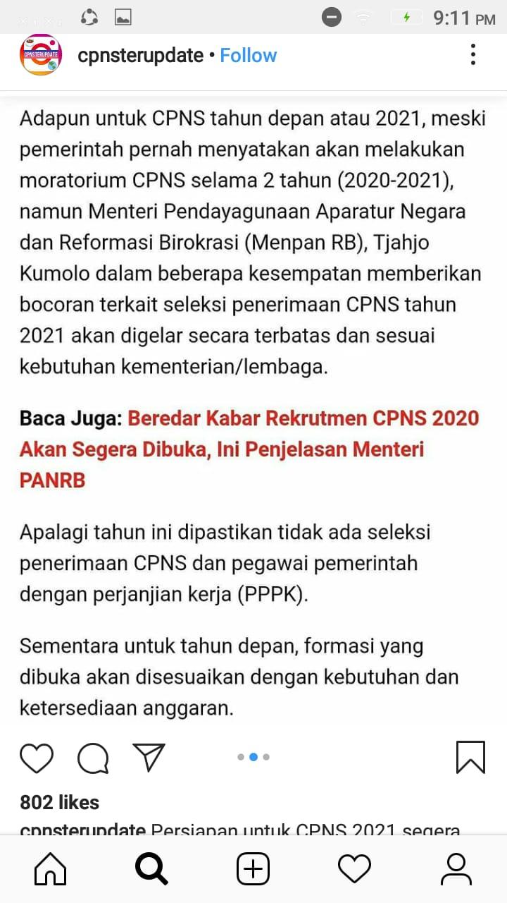 Informasi Penerimaan CPNS formasi 2021   Jadwal & Syarat ...